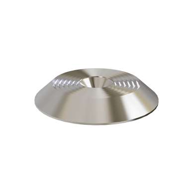 Stainless Steel Carpet Tactile Warning Stud With Concentric Rings Pattern on Top with Screw Fix