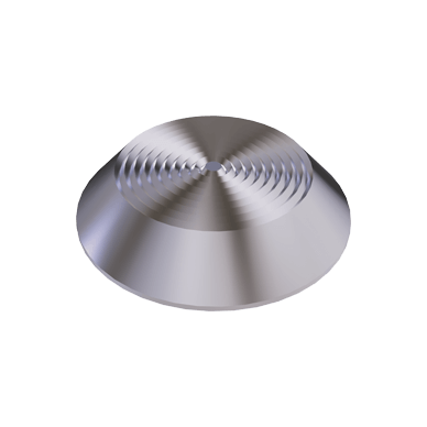 Stainless Steel Flat Tactile Warning Stud With Concentric Rings Pattern on Top