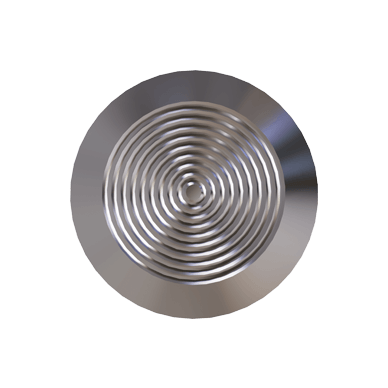 Stainless Steel Tactile Warning Stud With Concentric Rings Pattern on Top & Self Adhesive