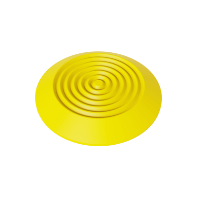Polyurethane Tactile Warning Stud With Concentric Rings Pattern on Top