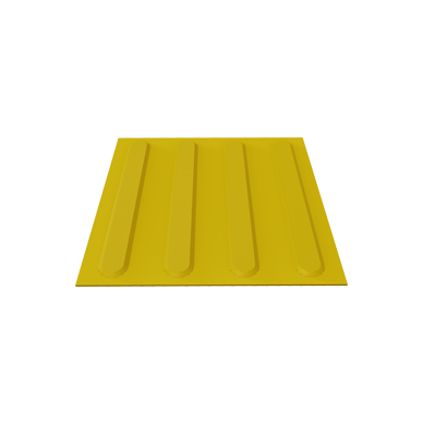 Polyurethane Tactile Tile with Directional Strips Self Adhesive
